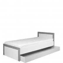 Postel 90 s úložným prostorem Twin TW/13 L/P bílá/šedá