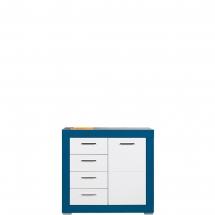 Skříňka/komoda Twin TW/2 bílá/modrá