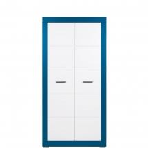 Skříň šatní Twin TW/9 bílá/modrá