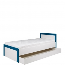 Postel 90 s úložným prostorem Twin TW/13 L/P bílá/modrá