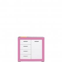 Skříňka/komoda Twin TW/2 bílá/růžová