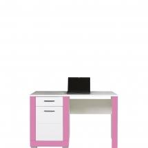 Pracovní stůl Twin TW/12 bílá/růžová