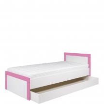 Postel 90 s úložným prostorem Twin TW/13 L/P bílá/růžová