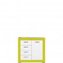 Skříňka/komoda Twin TW/2 bílá/zelená