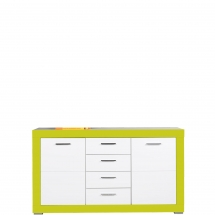 Skříňka/komoda Twin TW/3 bílá/zelená