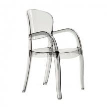 Židle jídelní plastová transparentní JOKER