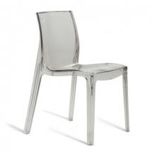 Židle jídelní plastová transparentní čirá FEMME FATALE