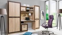 Dětská/kancelářská stěna SESTAVA 3 Boss (BS/9,10,11,12) dub sonoma/dub čokoládový