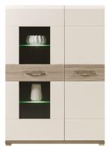 Sříňka/vitrína Flo FO/5 vč. LED osvětlení jilm/jasmín