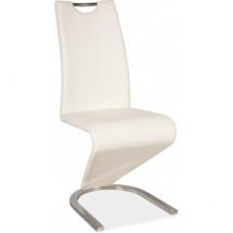Židle jídelní H 090 bílá/chrom