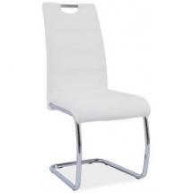 Židle jídelní H 666 chrom/bílá