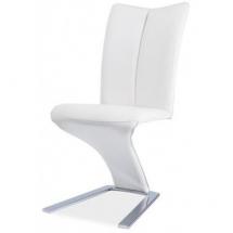 Židle jídelní H040 chrom/bílá