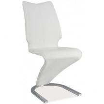Židle jídelní H050 chrom/bílá