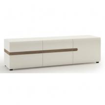 Televizní stolek bílý LINATE TYP 51