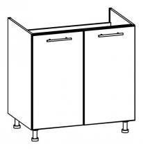 T24/D80Z/LP - spodní skříňka dřezová bez pracovní desky kuchyň Tiffany