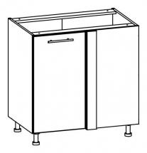 T25/DN/LP - spodní skříňka rohová bez pracovní desky kuchyň Tiffany