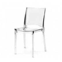 Židle jídelní plastová transparentní čirá B-SIDE