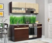 Kuchyň Eliza 120-180 wenge/wenge/rijeka světlá