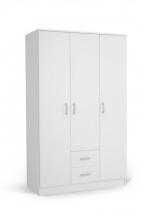 IVA 3K2F - skříň třídvéřová kombinovaná bílá