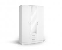 IVA 3K2FO - skříň kombinovaná se zrcadlem bílá