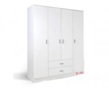 IVA 4K2F - šatní skříň kombinovaná bílá