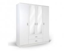 IVA 4K2FO - šatní skříň kombinovaná bílá IVA