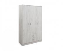 IVA 3K2F - šatní skříň kombinovaná dub sněhový