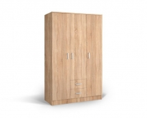 IVA 3K2F - skříň třídvéřová kombinovaná dub bardolíno