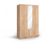 IVA 3K2FO - skříň kombinovaná se zrcadlem dub bardolíno
