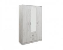 IVA 3K2FO - skříň kombinovaná se zrcadlem dub sněhový