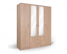 IVA 4K2FO - šatní skříň kombinovaná dub bardolíno