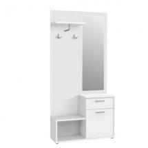 Předsíňová stěna se zrcadlem bílý mat NIKO 3