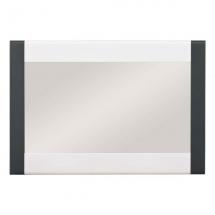 Zrcadlo NAOMI NA/10 bílý lesk/lišta grafit