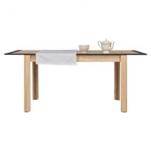Jídelní stůl rozkládací NAOMI NA/12 dub sonoma/lišta grafit