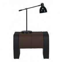 Noční stolek čalouněný NAOMI ST/4 černá/hnědá