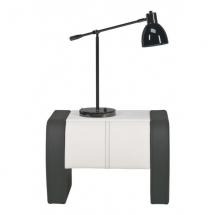 Noční stolek čalouněný NAOMI ST/4 černá/bílá