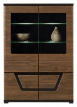 Vitrína s LED osvětlením TES TS/3 ořech