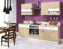 Kuchyň Modena 180-240 buk/buk+bílá