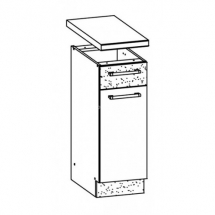 MD12/D30S1 L/P, TAFLA - spodní skříňka bez pracovní desky kuchyň Modena