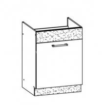 MD18/D60Z, TAFLA - spodní skříňka dřezová bez pracovní desky kuchyň Modena