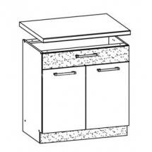 MD20/D80S1, TAFLA - spodní skříňka bez pracovní desky kuchyň Modena