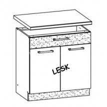 MD20/D80S1, MDF lesk - spodní skříňka bez pracovní desky kuchyň Modena