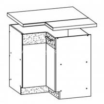 MD21/D90NW L/P, TAFLA - spodní rohová skříňka bez pracovní desky kuchyň Modena