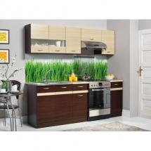 Kuchyň Eliza 160-220 wenge/wenge/rijeka světlá