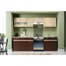 Kuchyň Eliza 200-260 wenge/wenge/vrch rijeka světlá