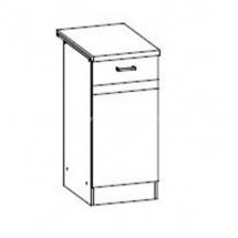EZ10/D40 L/P - spodní skříňka vč. pracovní desky kuchyň Eliza