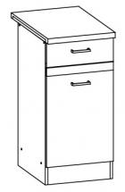 EZ11/D40S1 L/P - spodní skříňka vč. pracovní desky kuchyň Eliza