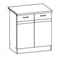 EZ16/D80 - spodní skříňka vč. pracovní desky kuchyň Eliza