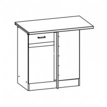 EZ18/D100NW  L/P - spodní rohová skříňka vč. pracovní desky kuchyň Eliza