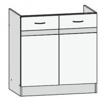 DK2D/80/82 - spodní skříňka dřezová kuchyň Junona